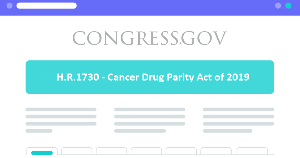 Cancer Drug Parity Act 2019