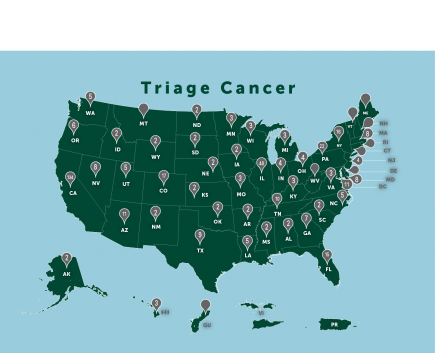 Triage Cancer Map by City 2019 Abbreviated Version