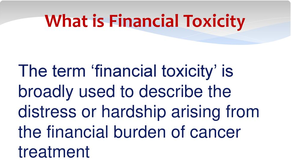 Financial toxicity definition