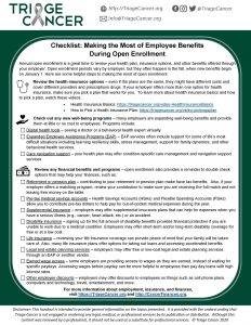 Checklist - Making the Most of Employee Benefits During Open Enrollment