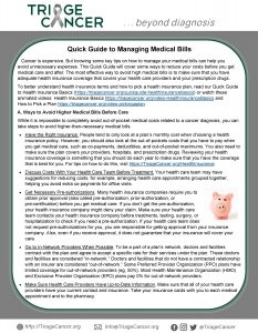 Quick Guide to Managing Medical Bills - click here to download.